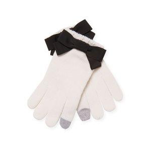 Kate Spade Grosgrain Bow Accent Tech Gloves